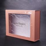 Ensemble cadeau Sun nature cosmétique emballages papier Box avec logo imprimé sur la fenêtre transparente en PVC