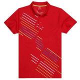 Camisa de polo de algodão impresso de algodão / moda (P011)