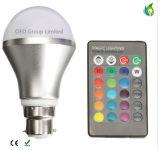 Ampoule magique d'ampoules de DEL RVB avec l'éclairage changeant de 16 des couleurs 3W 5W 10W 85-265V éclairages LED DEL de couleur