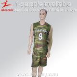 Camiseta de baloncesto de sublimación completa Healong