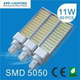 13W de alta potência LED da Base Giratória Lâmpada PLC G24