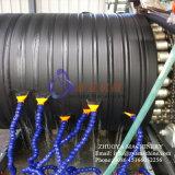 Linea di produzione a spirale attorcigliata parete vuota del tubo dell'HDPE macchina arrotolata dell'espulsore del tubo