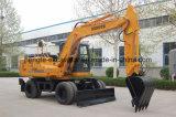 Excavadora de ruedas de 12 toneladas el doble de velocidad de la excavadora de ruedas