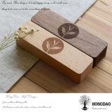 Rectángulo de empaquetado del fabricante de Hongdao del regalo de madera por encargo del té con el _E de las particiones al por mayor