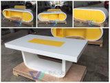 Usine blanche jaune d'alimentation de table de conférence du mobilier de bureau