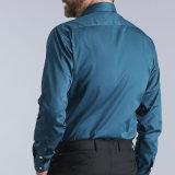 Обыкновенная толком голубая ультрамодная рубашка платья высокого качества/втулки офиса длинняя для самой последней самой лучшей рубашки людей качества