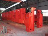 Grue de passerelle supplémentaire électrique de grue de déplacement supplémentaire de double poutre 20 tonnes