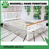A cor branca Pine Cama de Casal cama cheia de madeira (W-B-4030)