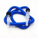 slang van de Waterpijp Shisha van 1.5m de Blauwe Rubber Plastic met het Mondstuk van het Glas (S-hh-001-2)