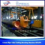 Вырезывания плазмы трубы нержавеющей стали CNC оси индустрии 5 сосудов под давлением машина круглого скашивая