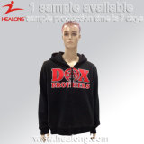 Healong Custom Design Silk Screen Zipper Fleece Hoodie