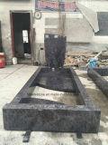葬儀の黒い花こう岩記念碑の墓石の墓石の銘刻文字の費用