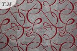 ジャカードフィリピン赤いポリエステル家具ファブリック(fth31942)