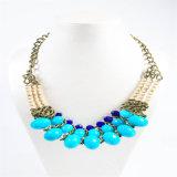 جديدة تصميم نغمة زرقاء أكريليكيّ خرزة نمط عقد مجوهرات