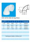 Cotovelo de ASTM Dwv D2665 90deg