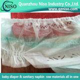 Гидродобный бортовой Nonwoven листа для пеленки младенца