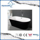 黒い環境の楕円形の支えがないアクリルの浴槽(AB1507B-1500)
