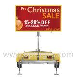 Afficheur LED portatif de la publicité extérieure de remorque de couleur dynamique mobile de table des messages