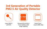 Laser Pm2.5 Testeur pour la détection de la qualité de l'air avec affichage à DEL