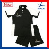 Logotipo da transferência de calor Healong Corte Personalizado e costurar Polo Definido