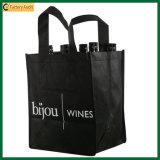Mehrfachverwendbarer 9 Wein-Beutel des Flaschen-Träger-420d (TP-WB020)