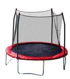 10FT rotes springendes Bett (Trampoline) mit 4 Beinen und Sicherheits-Gehäuse