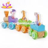 Верхней Части продажи перевозок животных деревянная игрушка поезд животных наибольшей нагрузки в течение 1'2 малышей Летняя W05c092