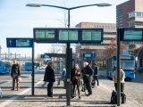 Tudo em uma rede ferroviária de 32 polegadas monitor de transporte de informação dos passageiros