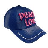 Custom lavados de color caqui gorra de béisbol con tela aplique Gjwd1748