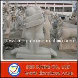 Estatua de piedra del jardín con la figura Cavring
