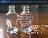 6ml-9ml vacian la botella de cristal del polaco de clavo del envase con el casquillo