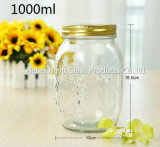 De in het groot Mini Lege Kruiken van de Metselaar van de Fles van het Glas van de Melk van de Pudding 100ml met Plastic GLB