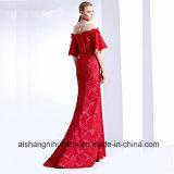 Les femmes de la dentelle élégante rétro longue robe de soirée Prom
