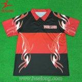 Healong Haut de la vente de vêtements de sport impression en sublimation Polo Shirt personnalisé