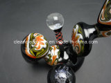 Pipe de tabagisme en verre de vente de Mamba noir de pipe de pipe en verre impétueuse chaude de main