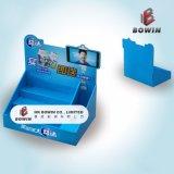 卸し売り表示棚のペーパー床の立ち客の陳列台のボール紙の立場の表示