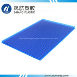 Bereiftes blaues Grün-Höhlung-Polykarbonat-Dach-Blatt