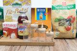 공장 가격 최신 판매 성격 목제 뚜껑 유리제 향미료 저장 단지 유리 그릇 (100019)