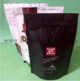 De Tribune van de douane op de Zak van de Koffie met de Klep van de Ritssluiting en van het Gas