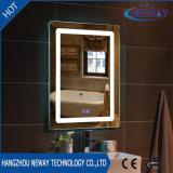Miroir intelligent de salle de bains de la vanité allumé par hôtel à la maison moderne DEL