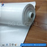 Poly tissu tissé blanc traité aux UV pour l'emballage en acier
