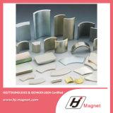 Magnete personalizzato del nichel del rivestimento di segmento del neodimio dell'arco di bisogno N50 di potere eccellente per i motori