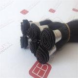 手によって結ばれるインドの人間の毛髪の拡張の人間の毛髪のよこ糸