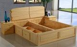 Cama em madeira maciça da cama de casal moderna (M-X2233)