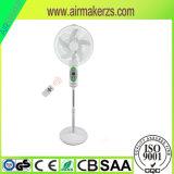 Ventilateur solaire portatif rechargeable de stand de 16 pouces avec la lampe de DEL