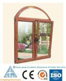 最上質のガラス窓のための木の穀物のアルミニウムプロフィール