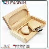 Rectángulo de destello del disco de la chaveta impulsora de la memoria del palillo del USB del bambú de madera (YLH205)