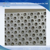 Feuille ronde perforée en aluminium pour tube