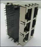 방패 8p8c RJ45 연결관을%s 가진 2X3p PCB 잭