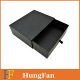 点の紫外線ロゴのカスタム黒く贅沢な滑走の引出しのペーパーギフト用の箱